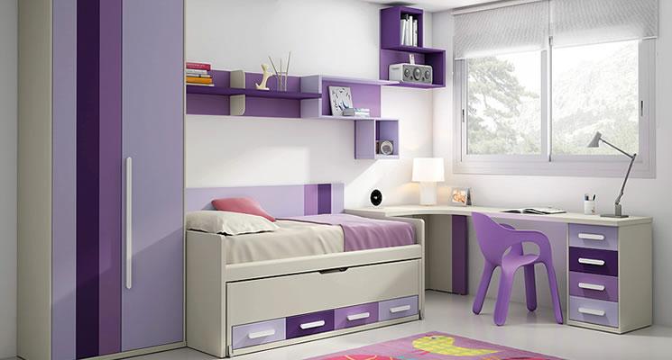 Dormitorios juveniles en - Cabeceros con compartimentos ...