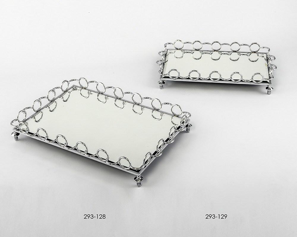 Bandejas decorativas en cristal y metal - Bandeja metal ...