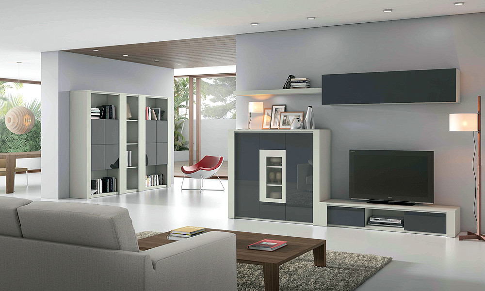 Composici n modular de sal n estilo moderno - Composicion modular salon ...