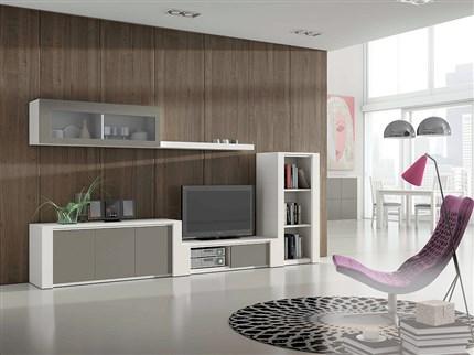 Composici n modular de sal n de estilo moderno for Composicion salon moderno
