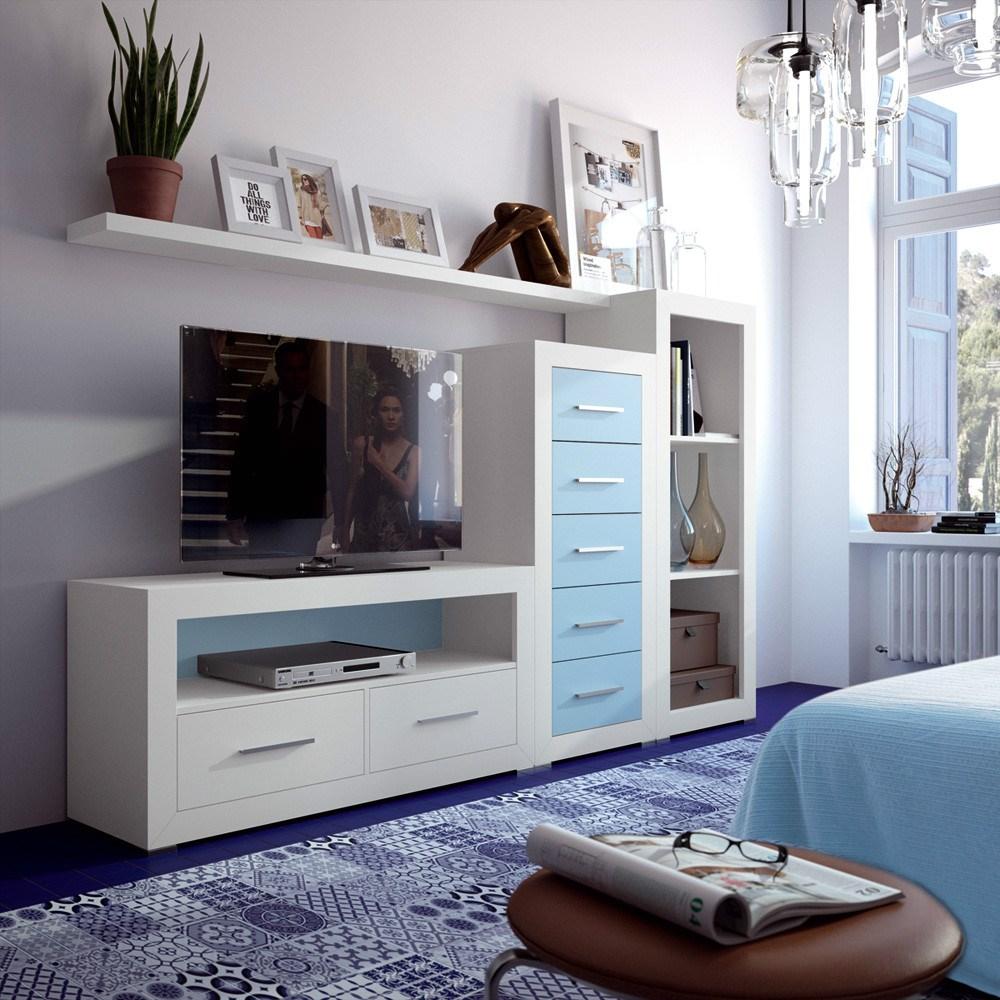 Composici n modular para tv for Modulares para tv modernos