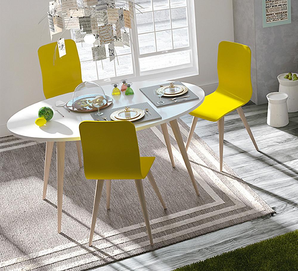 Conjunto de mesa y tres sillas vintage - Conjunto mesas y sillas ...