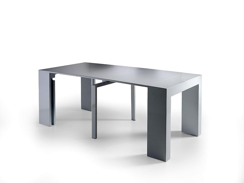 Consola convertible en mesa de comedor extensible - Mesa consola ikea ...