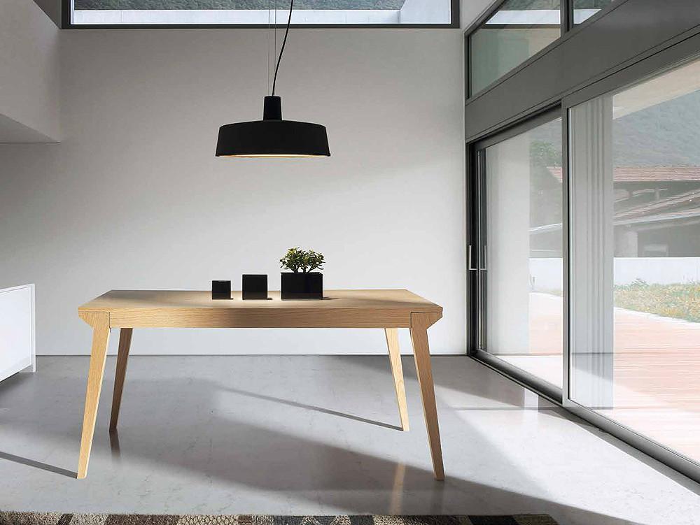 Mesa de comedor extensible de madera de roble - Mesas auxiliares comedor ...