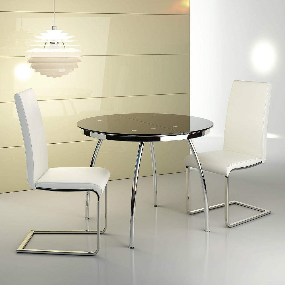 Mesa de comedor redonda de estilo moderno - Mesas auxiliares comedor ...