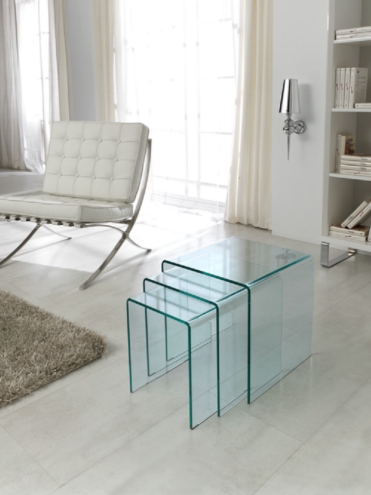 Mesas auxiliares de policarbonato - Mesas auxiliares de cristal ...