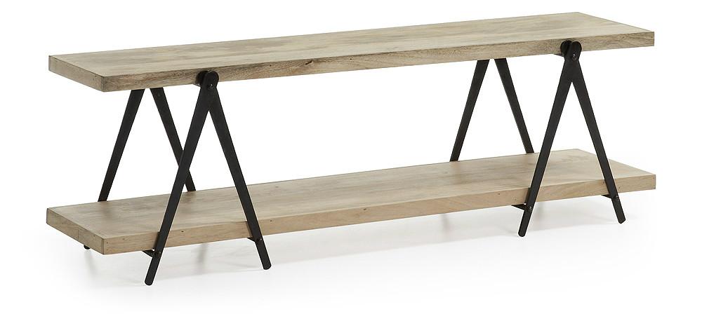 Mueble de tv de madera y hierro - Muebles de madera y hierro ...