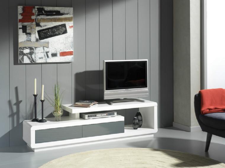 Mueble de tv en dm lacado alto brillo for Mueble salon lacado alto brillo