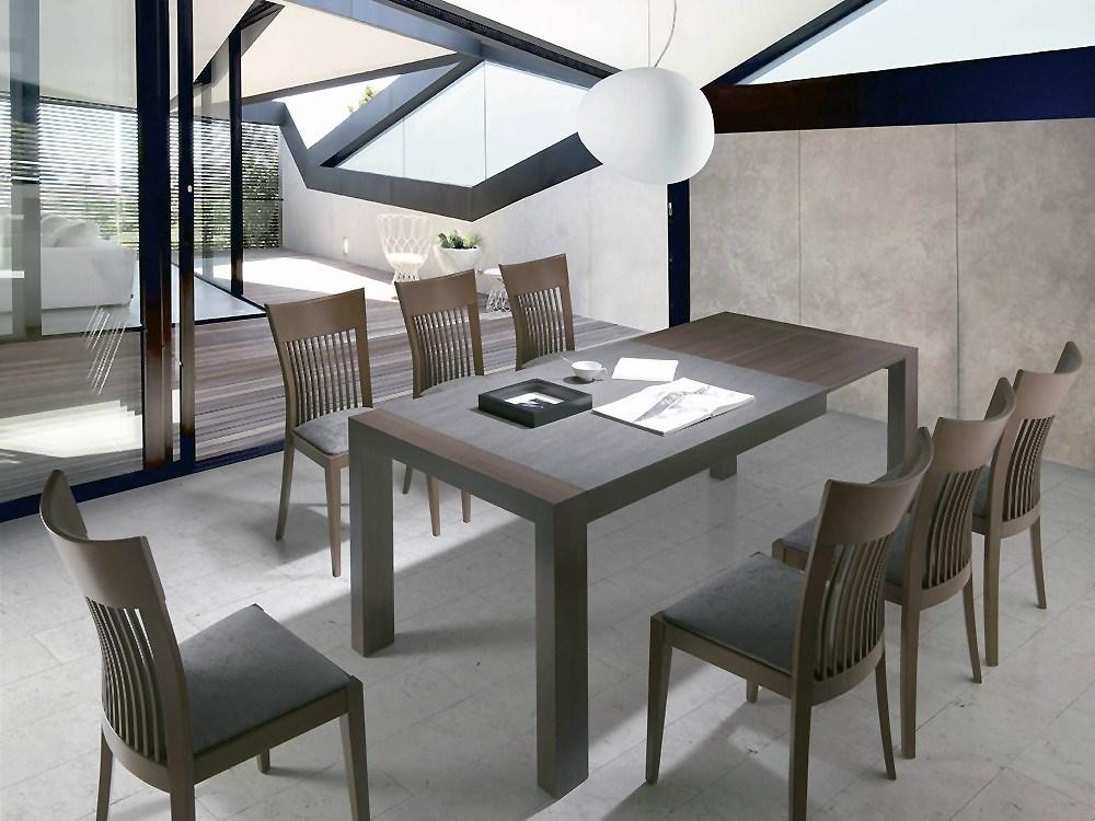 Pack de mesa de comedor y 4 sillas en madera de haya for Mesa de comedor 4 sillas