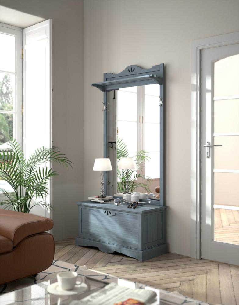 Recibidor en madera de estilo r stico urbano - Mueble recibidor rustico ...