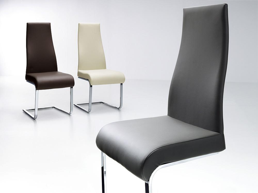 Sillas de estilo moderno tapizadas en polipiel for Sillas estilo moderno