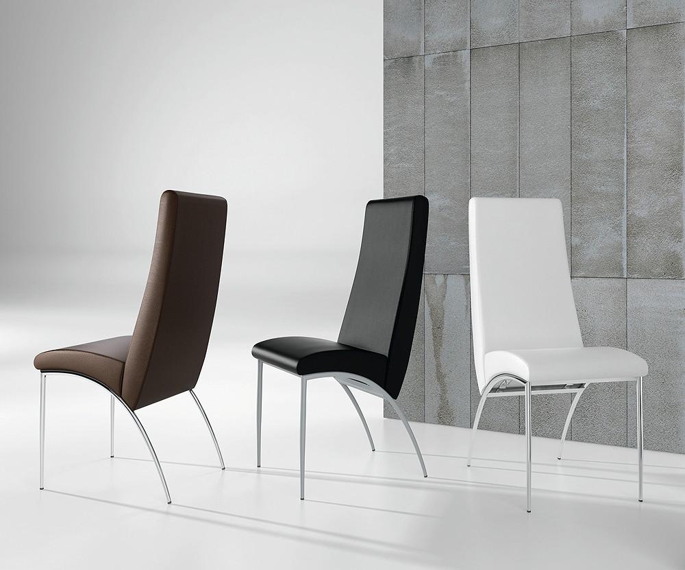 sillas tapizadas en colores de estilo moderno