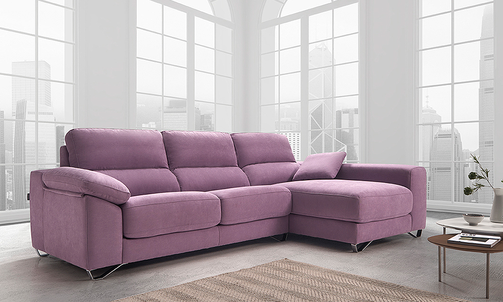 Sofa CELIA exclusivo con chaiselongue CIRCULO MOBILIARIO