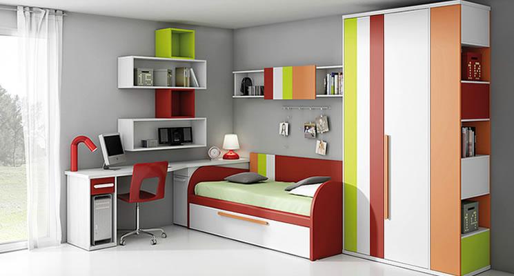 Dormitorios juveniles en - Estanterias para habitaciones juveniles ...