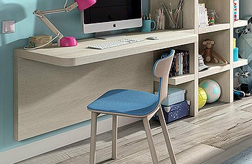 Mueble auxiliar juvenil e infantil online - Mesas estudio juveniles ...