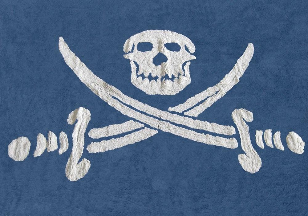 Alfombra con bandera pirata - Alfombra banera ...