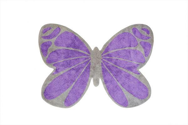 Alfombra de algodón con forma de mariposa en color rosa y ...