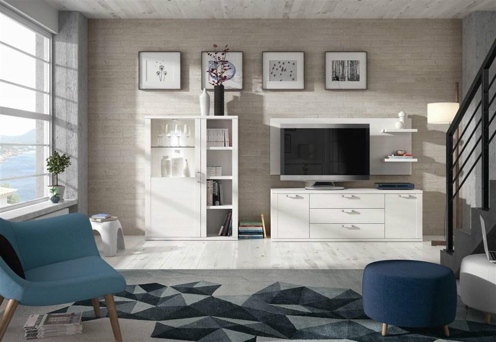 Ambiente de sal n con mueble bar y mueble tv for Mueble bar salon