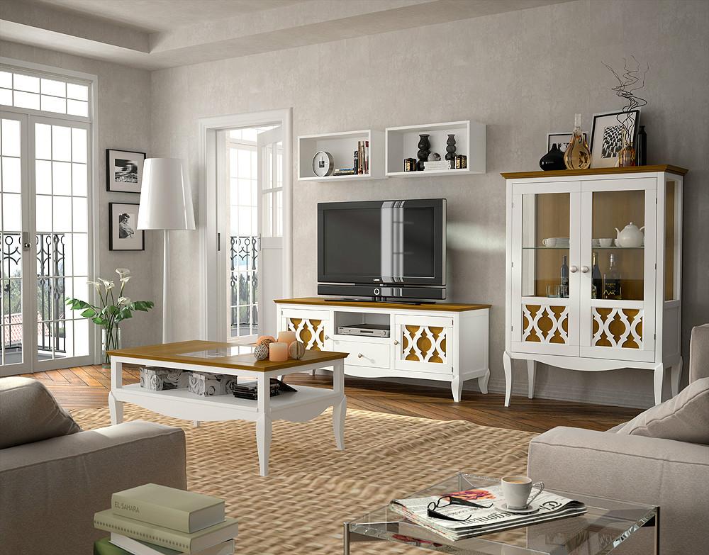 Ambiente de sal n en madera de estilo r stico urbano - Muebles de salon rustico moderno ...
