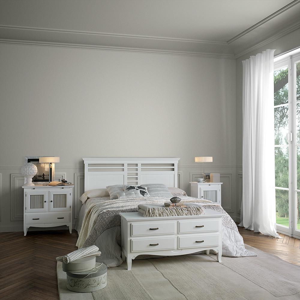 Ambiente de dormitorio de estilo r stico urbano for Habitacion lila y blanca