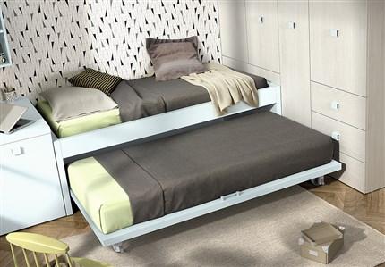 Camas nido y literas del moderno for Cabeceras de cama con tarimas