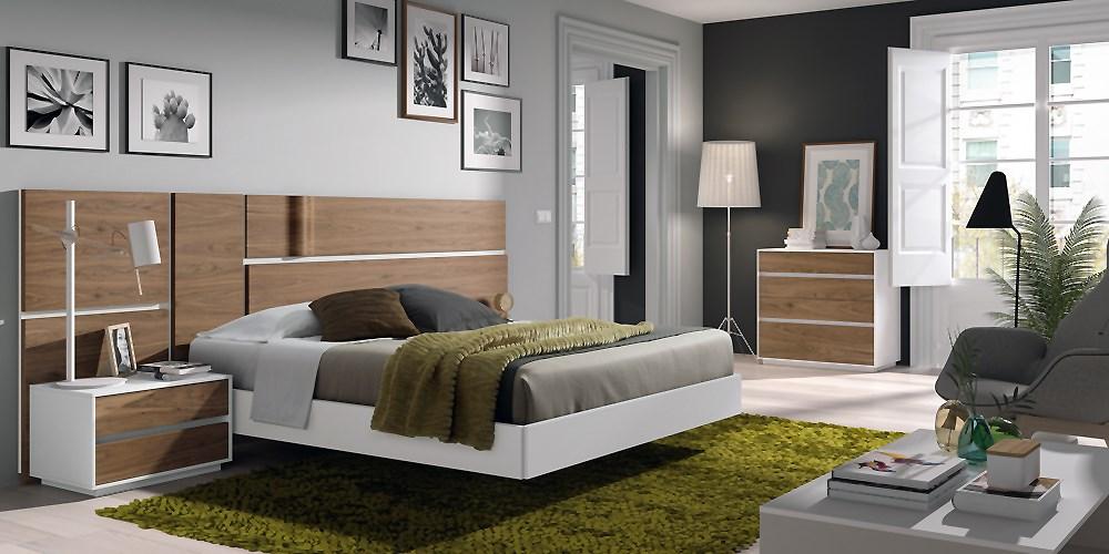 Composici n de dormitorio moderno for Mobiliario de dormitorio