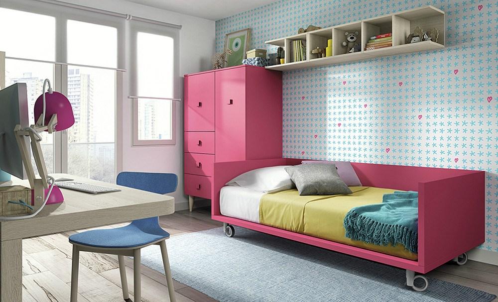 Dormitorio juvenil con cama tarima - Sofa cama juvenil ...