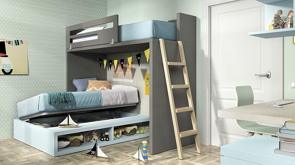 Dormitorio juvenil moderno for Composicion dormitorio juvenil