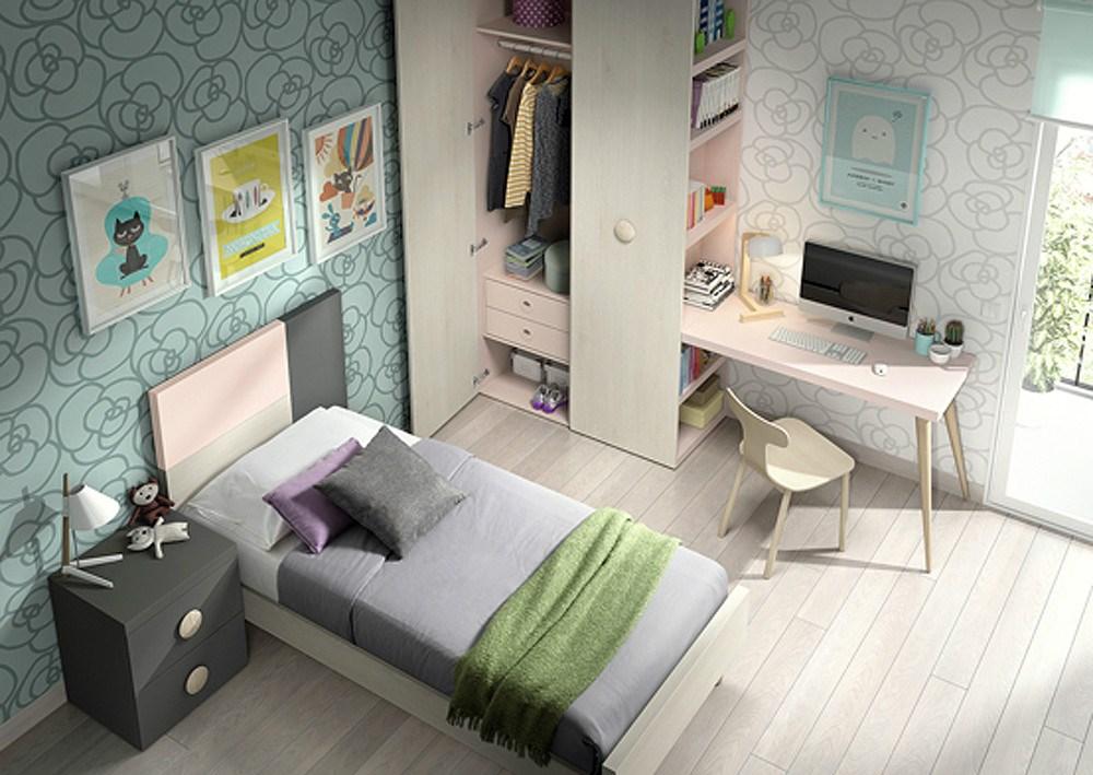 Ambiente juvenil for Composicion dormitorio juvenil
