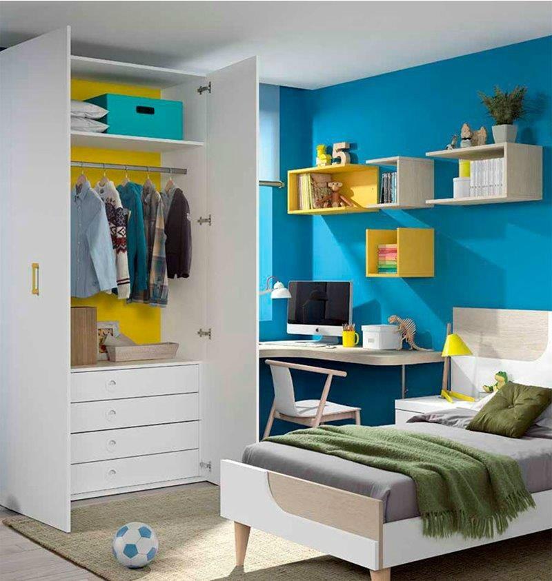 Composici n juvenil moderna for Composicion dormitorio juvenil
