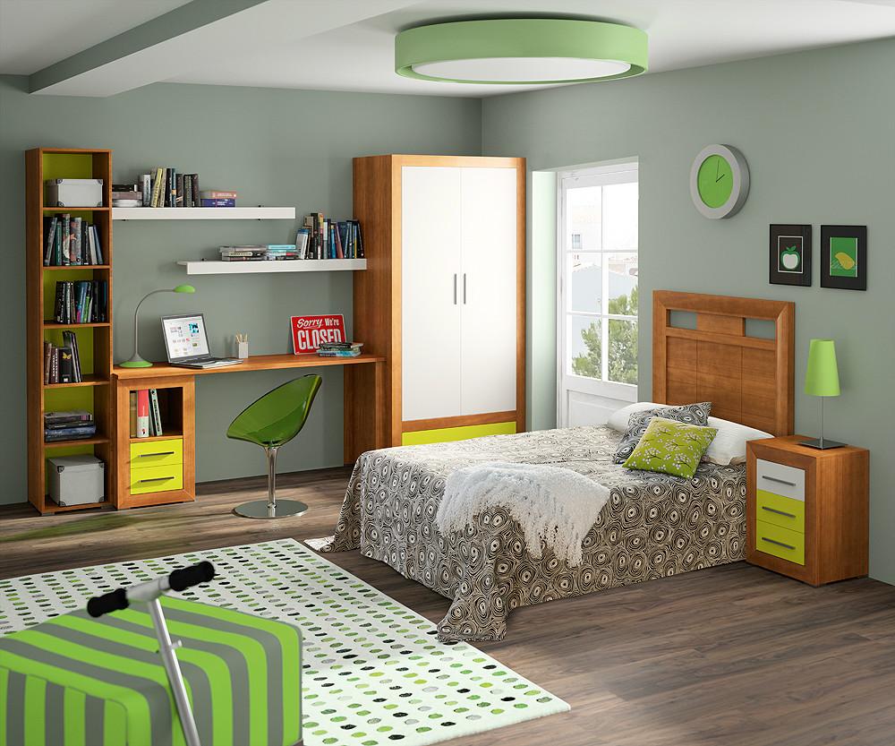 Dormitorio juvenil de estilo r stico urbano for Composicion dormitorio juvenil