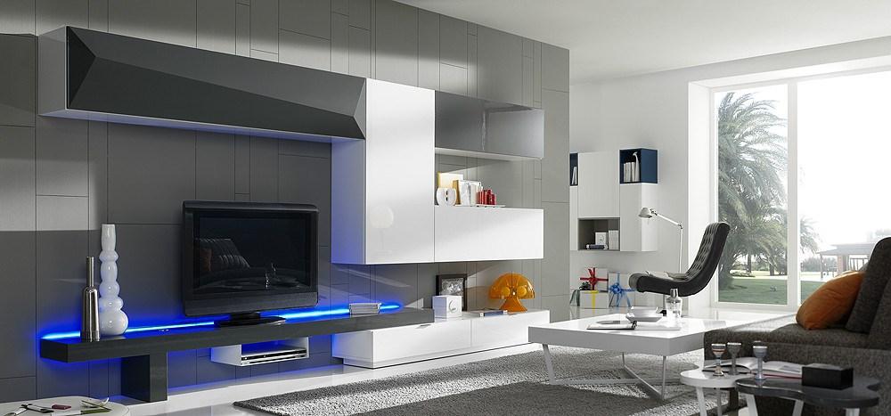 Composici n modular de sal n de dise o for Iluminacion led para muebles