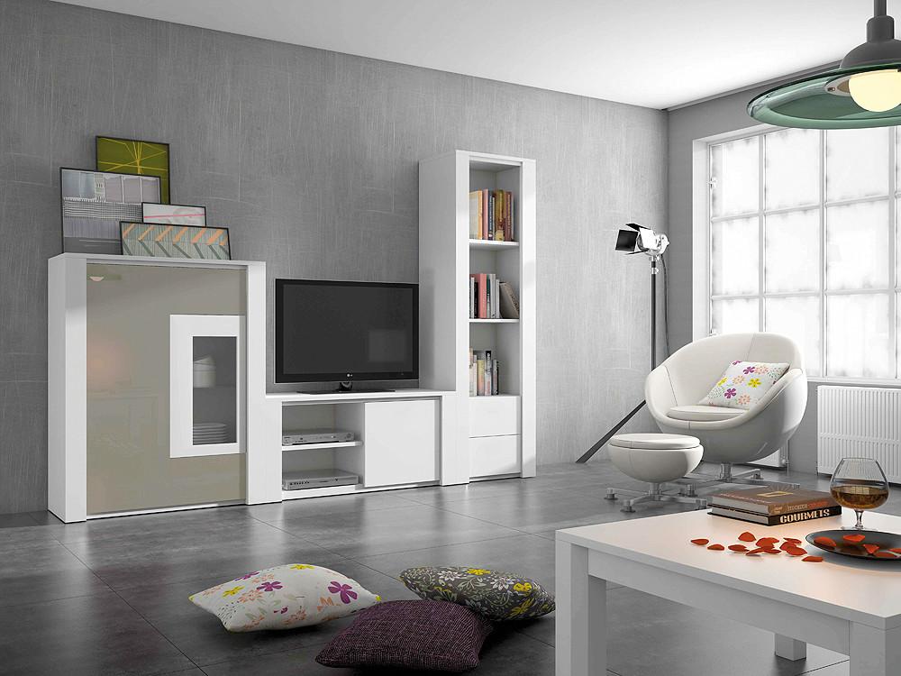 Composici n modular de sal n de estilo moderno - Composicion modular salon ...