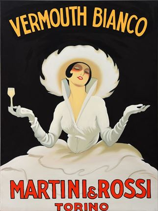 Cartel publicitario de Martini para decoración actual de paredes