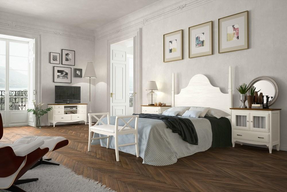 Dormitorio lineas románticas y personales