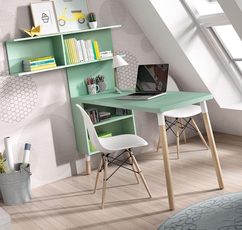 Mesa escritorio con estanter a para estudiar y divertirse for Mesas para estudiar