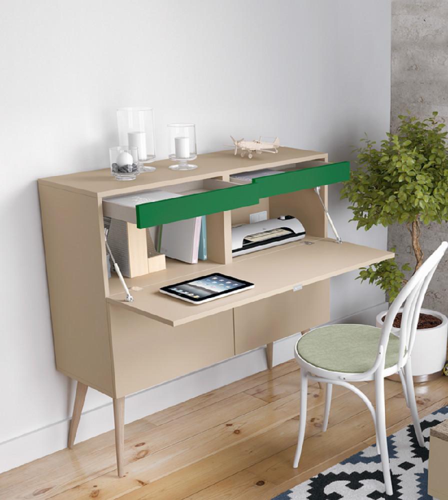 Escritorio de estilo vintage - Integrar escritorio en salon ...