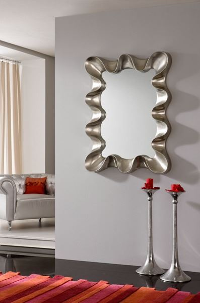 Espejo con marco en color plata - Espejos color plata ...