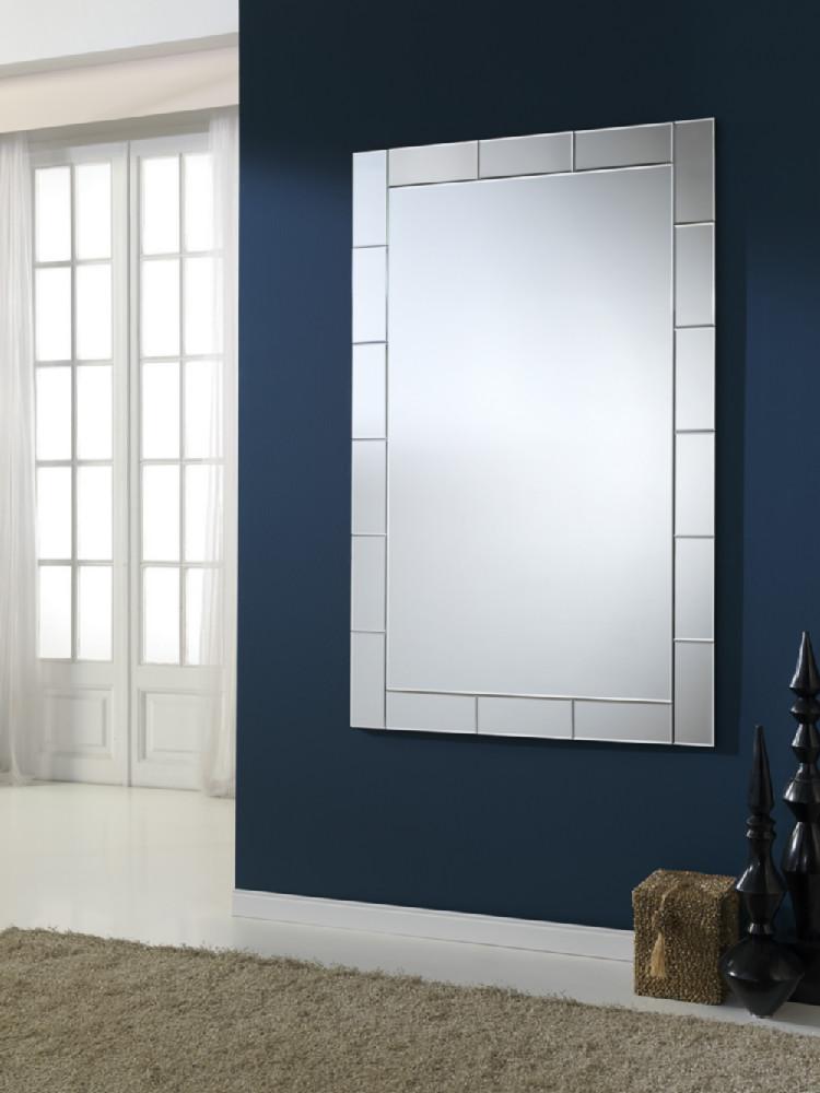 Espejo rectangular para colgar de forma vertical u horizontal for Espejo horizontal salon