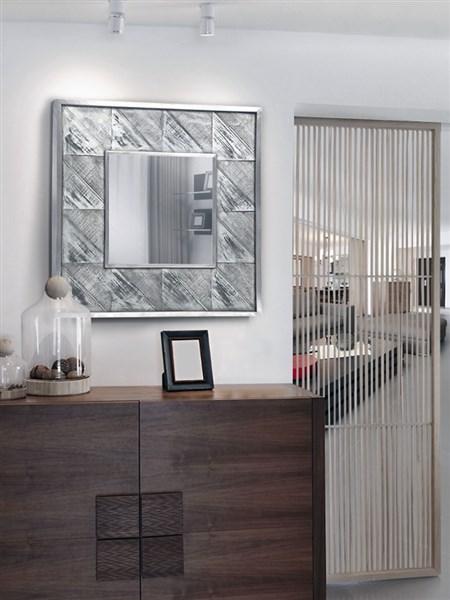Espejos online cuadrados con marco de madera for Espejos cuadrados