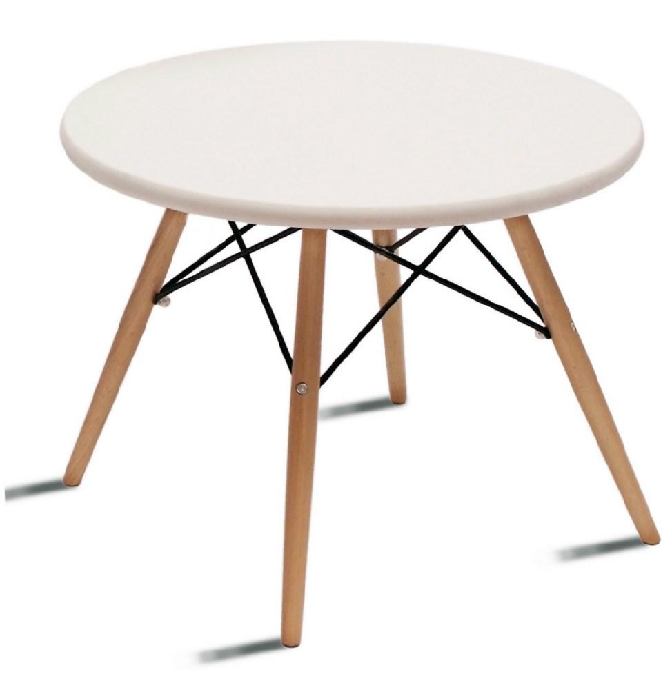 Mesa auxiliar en madera y metal for Mesa auxiliar metal