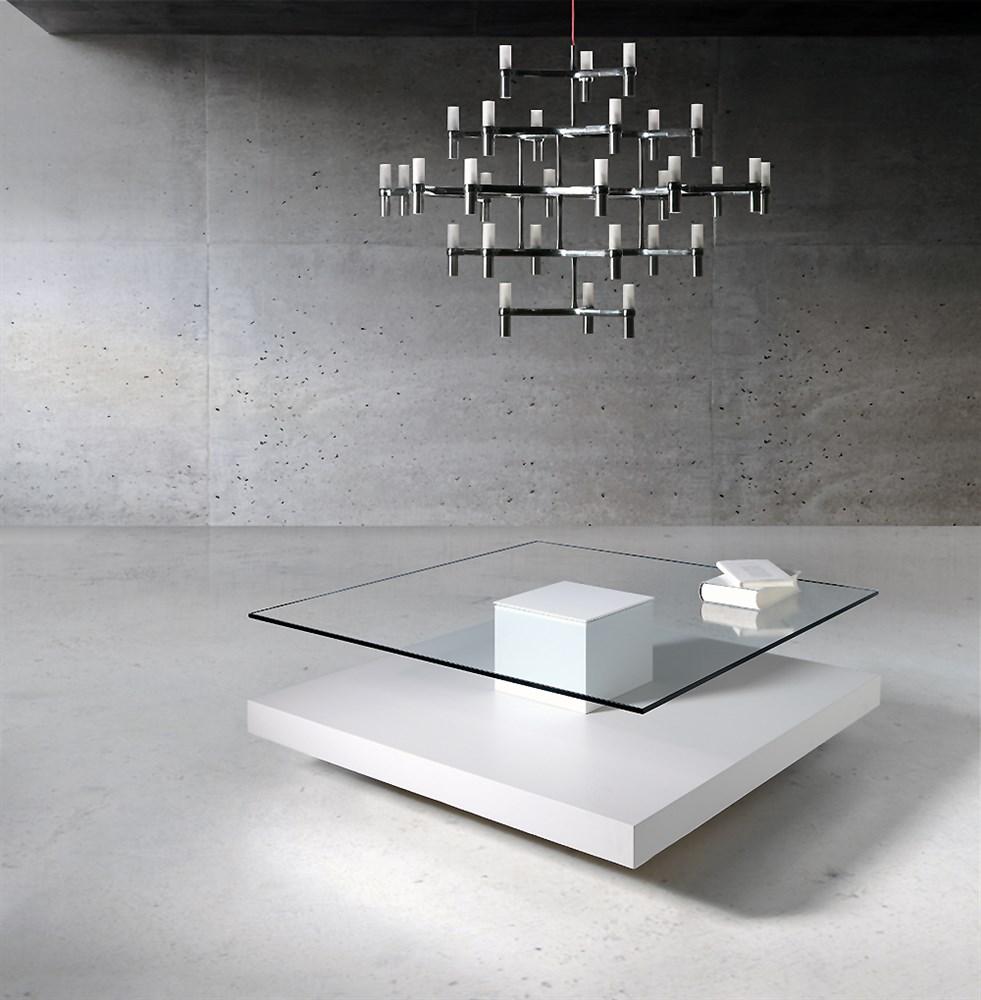 Mesa de centro que da la sensaci n de flotar en el aire - Mesas ovaladas de cristal ...
