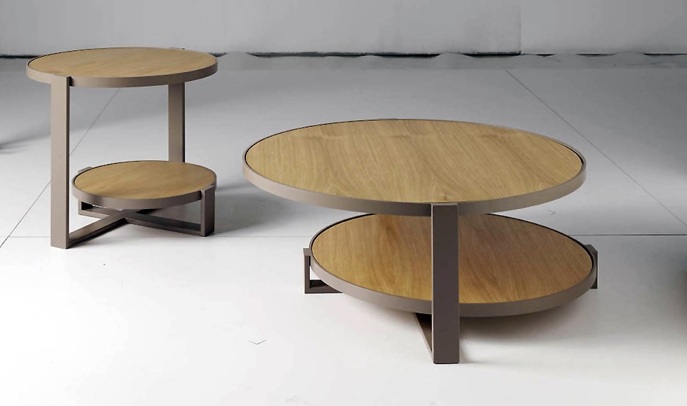 Mesas auxiliares redondas kavehome mesa auxiliar haylo en for Mesa esquinera redonda