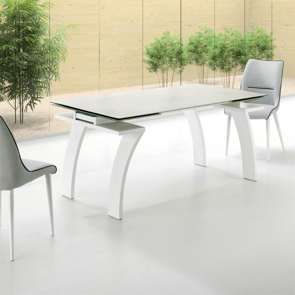 Mesa de comedor en porcel nico y acero - Mesa comedor porcelanico ...