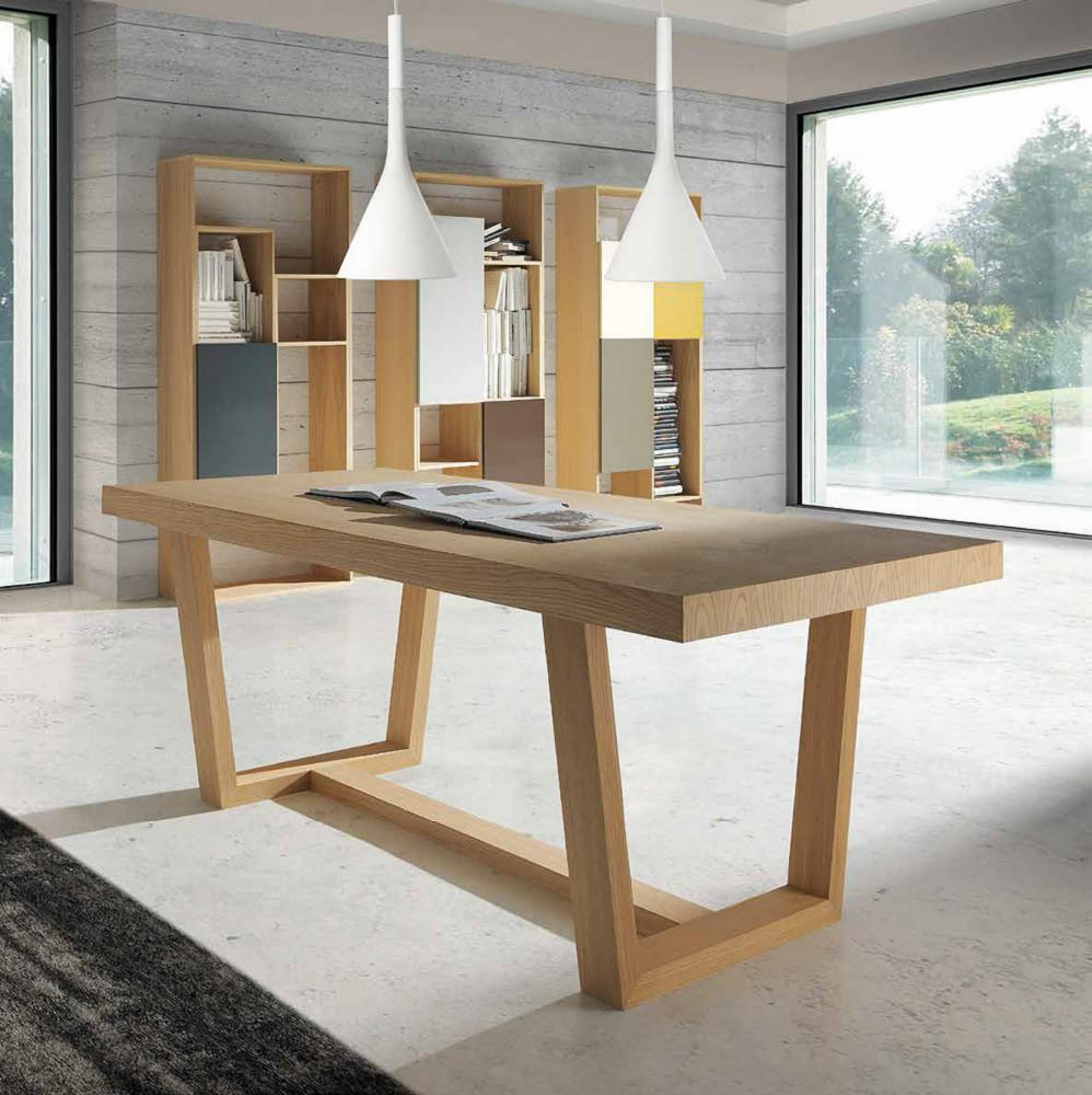 Mesa de comedor en madera de roble - Mesa de comedor medidas ...