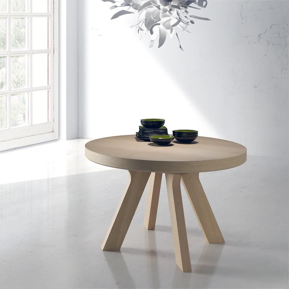 Mesas de comedor redondas y extensibles for Mesas de comedor redondas extensibles de madera