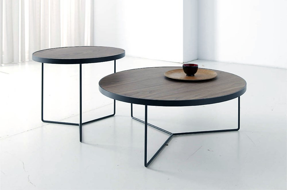 mesas de centro redondas en roble