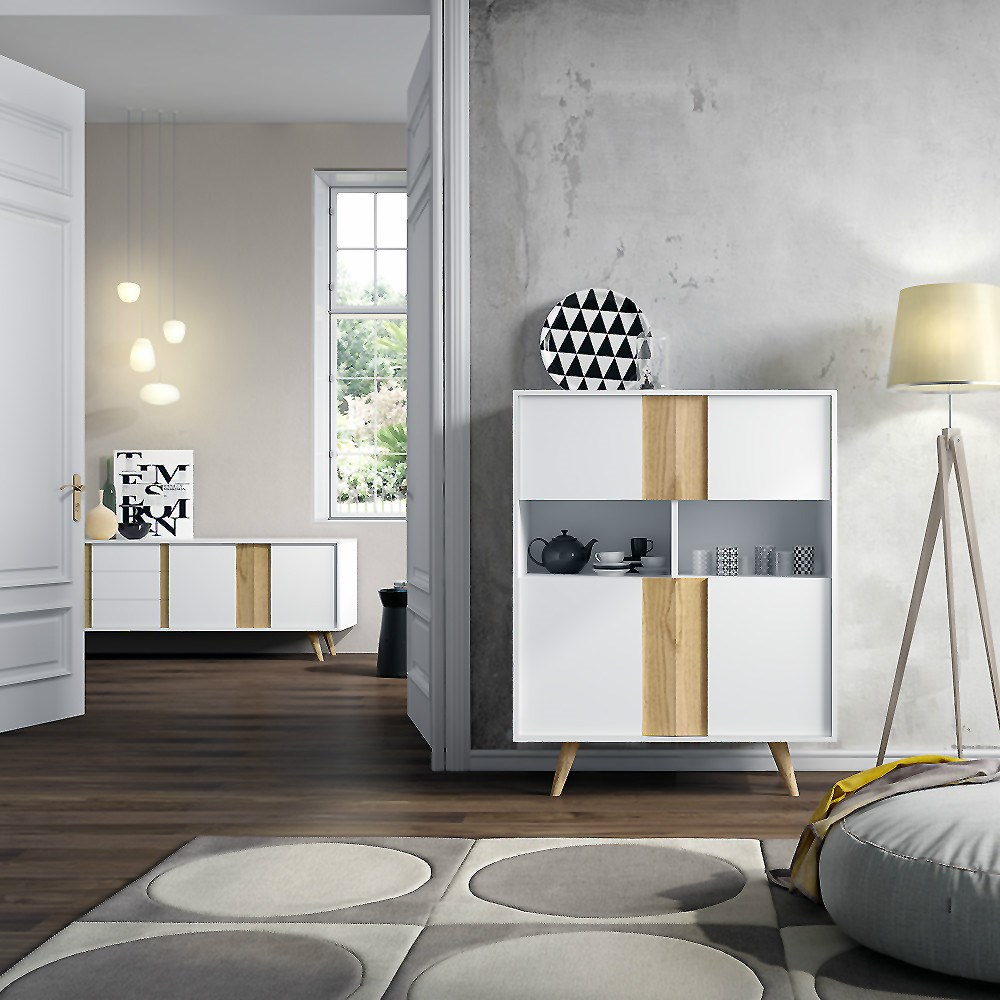 Muebles recibidor estilo nordico 20170726055618 - Mueble nordico madrid ...