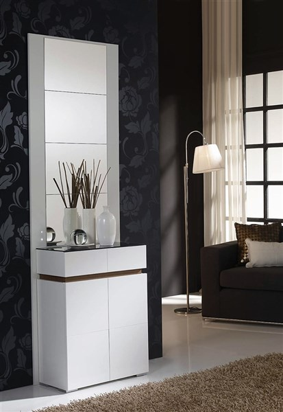 Mueble recibidor con zapatero for Recibidor zapatero con espejo