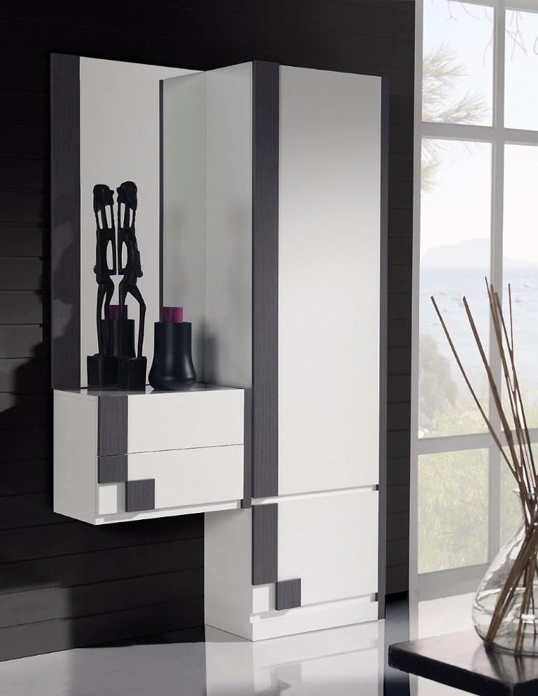 Recibidor con espejo cajonera y armario - Recibidor con armario ...
